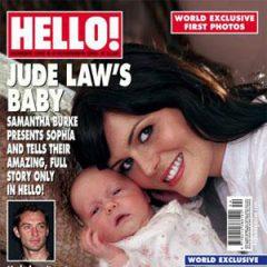 Внебрачная дочь Джуда Лоу на обложке «Hello!»
