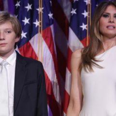 Меланья Трамп перевозит сына в Белый Дом