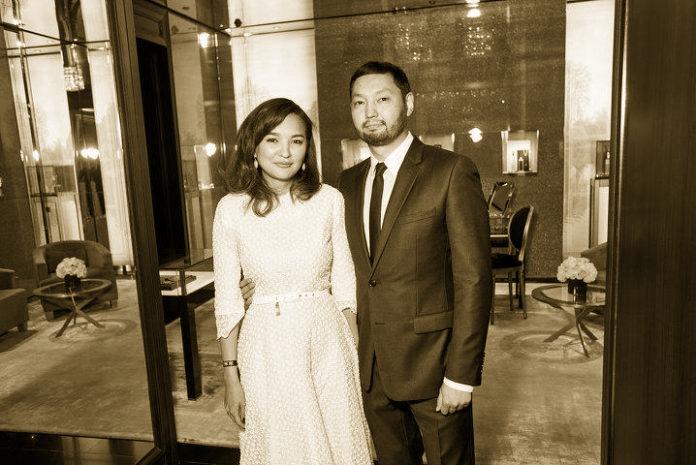 Кенес Ракишев с супругой Асель